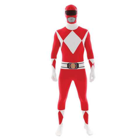 Morph Suit Power Rangers Red Costume Adult