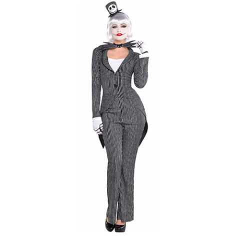Adult Lady Jack Skellington Costume - The Nightmare Before Christmas
