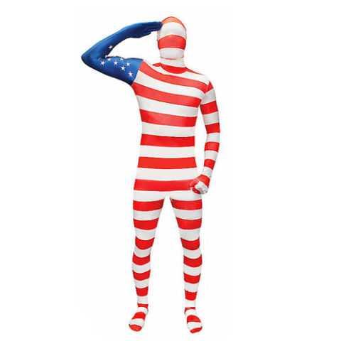 USA Flag Super Skin Costume