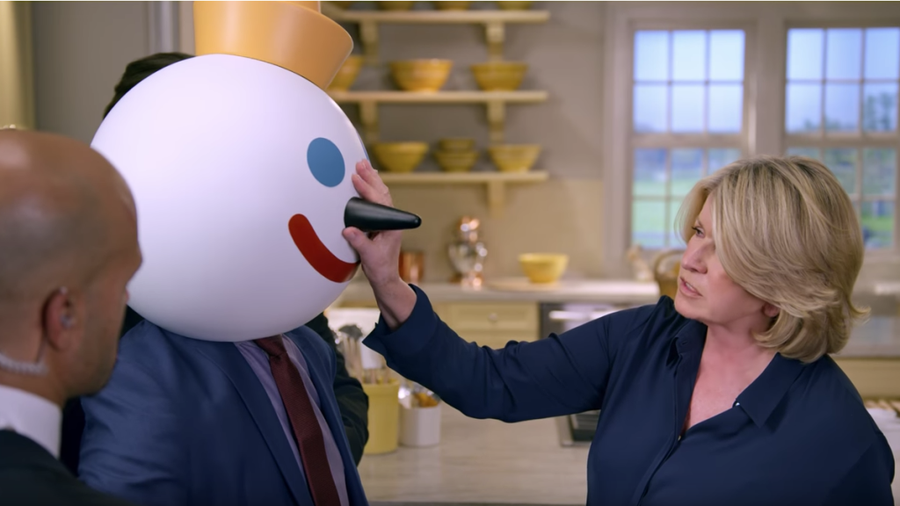 Martha Stewart in Super Bowl ad for Jack in the Box