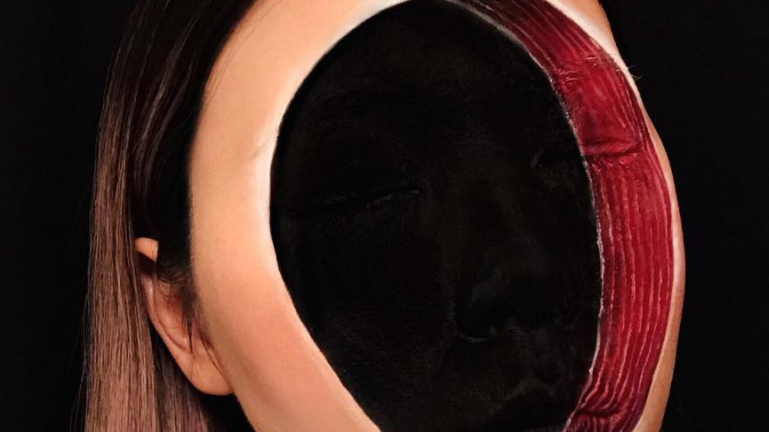 'Faceless void' make-up