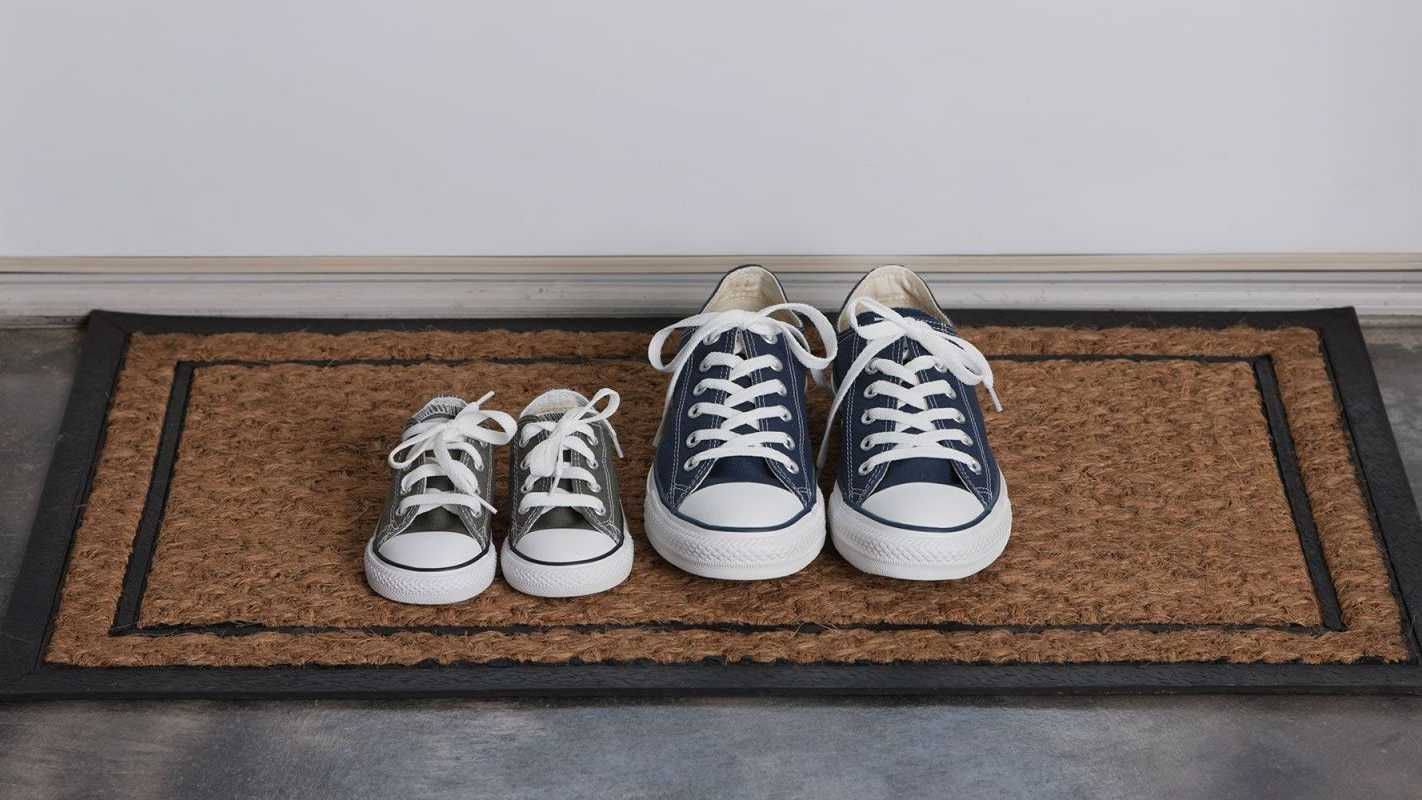 shoes at front door