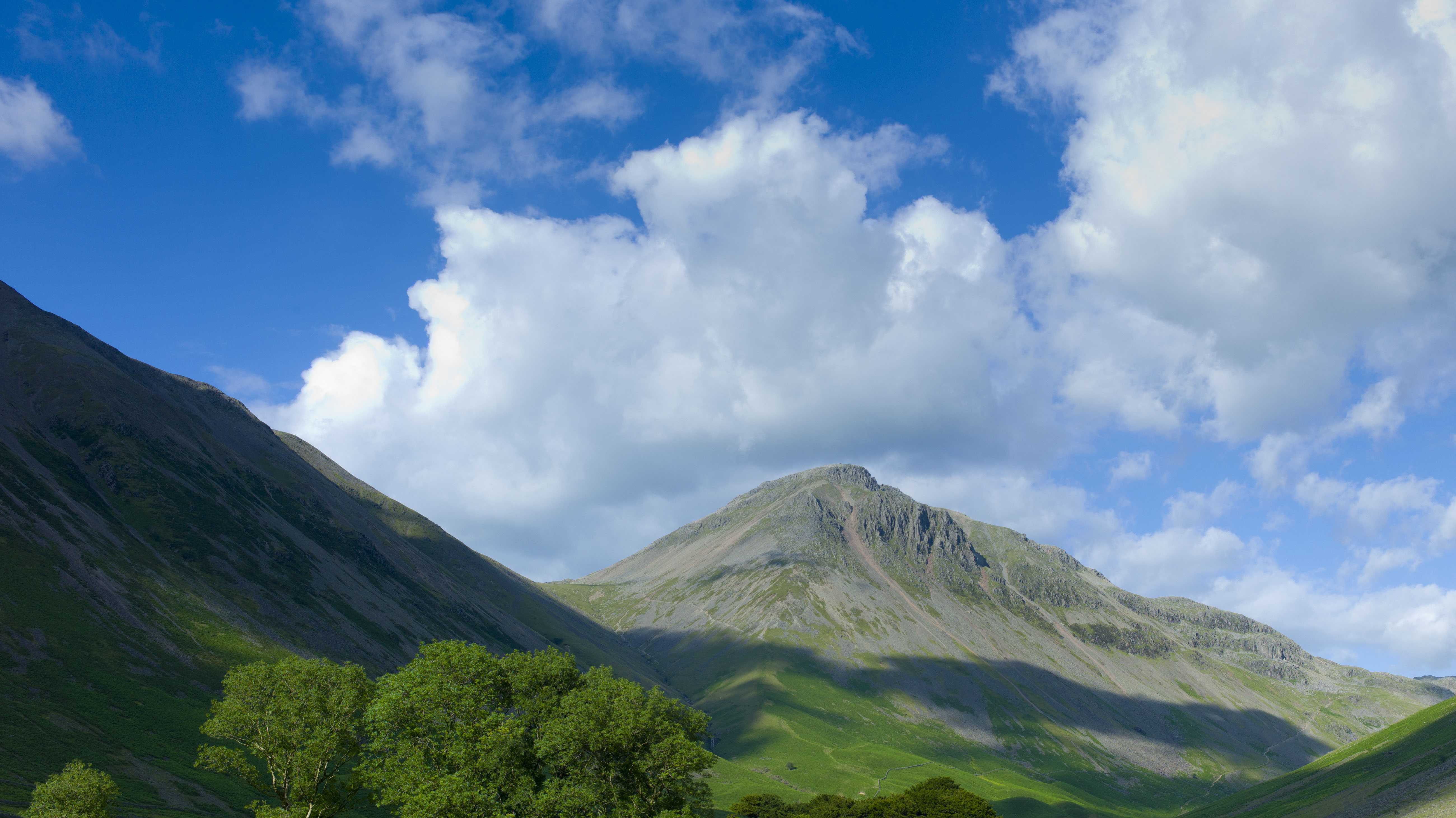 UNITED KINGDOM - JULY 13: Wasdale Fell and Great Gable by Wastwater in the shadow of Sca Fell Pike in the Lake District National Park, Cumbria, UK (Photo by Tim Graham/Getty Images)