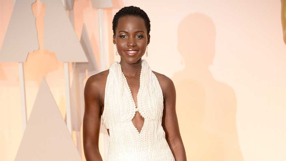 <p>Lupita Nyong'o in Calvin Klein Collection</p>