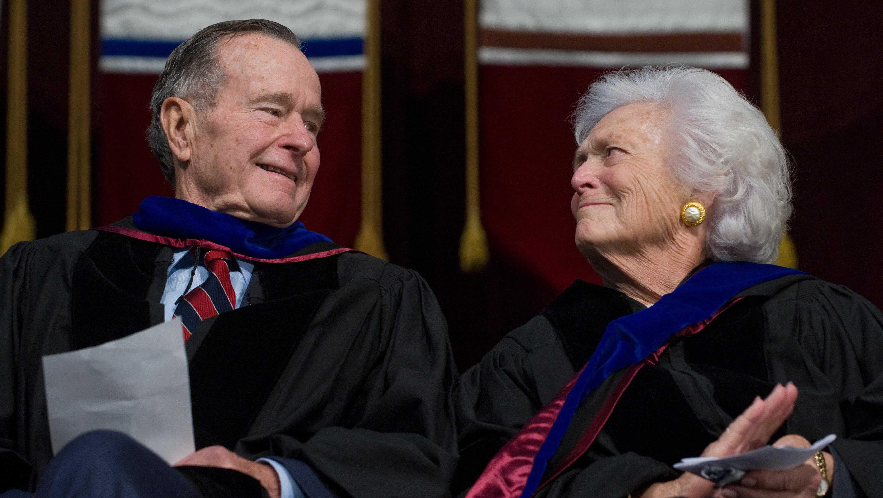 Barbara Bush and George H.W. Bush 2008