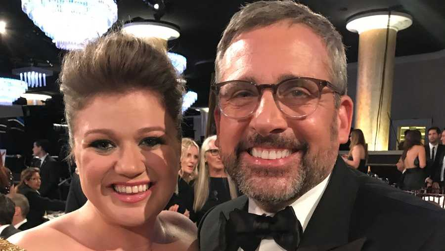 Kelly Clarkson and Steve Carell