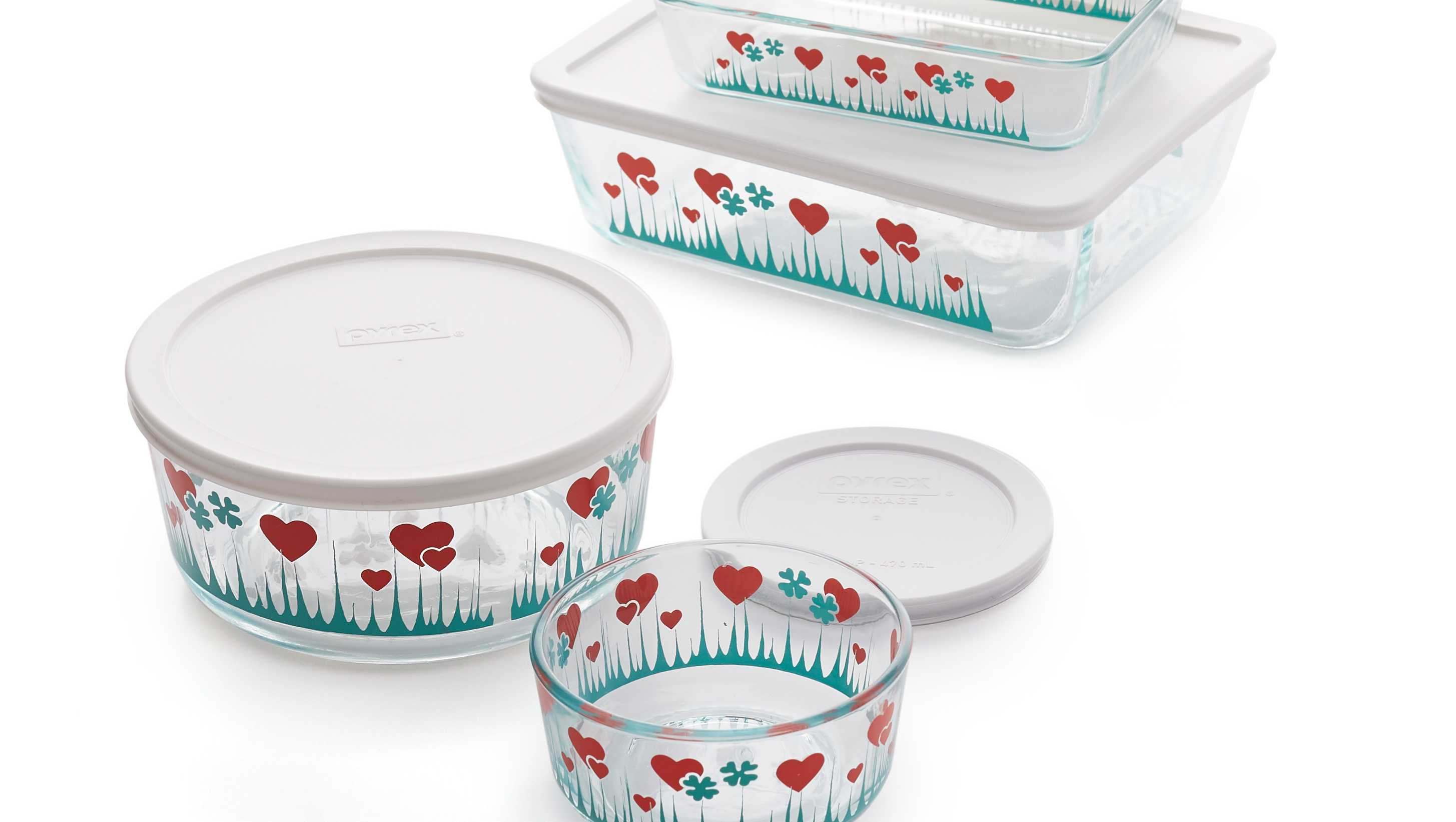 pyrex forever lucky in love storage dishes
