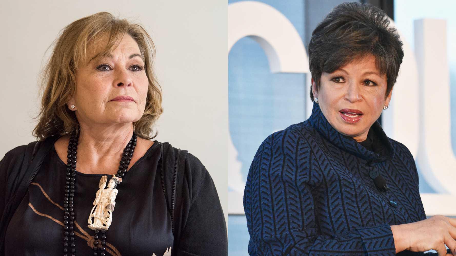 Roseanne Barr and Valerie Jarrett