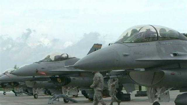 F-16 Squadron at Iowa Air National Guard