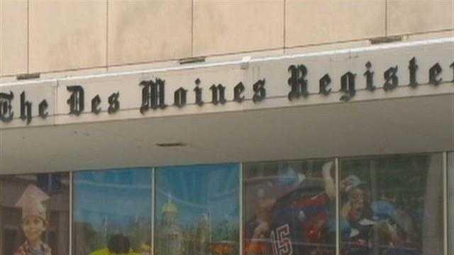 Register building downtown Des Moines