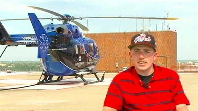 When Jake Powley was 9 years old, his life changed forever after a crash during a motocross event at a track near Indianola.
