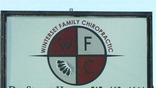 A central Iowa chiropractor is accused of inappropriately touching one of his female patients, according to medical officials.