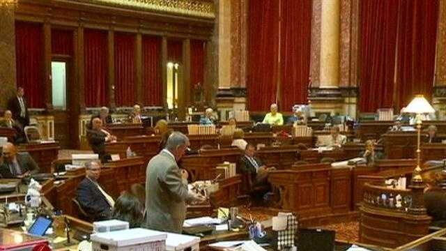 There was heated debate in the Iowa senate Tuesday night over property tax reform.