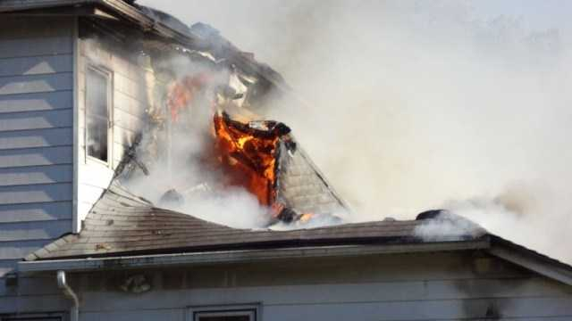 Ames apartment fire Sunday, May 20th. Photo courtesy of T.J. Kleckner