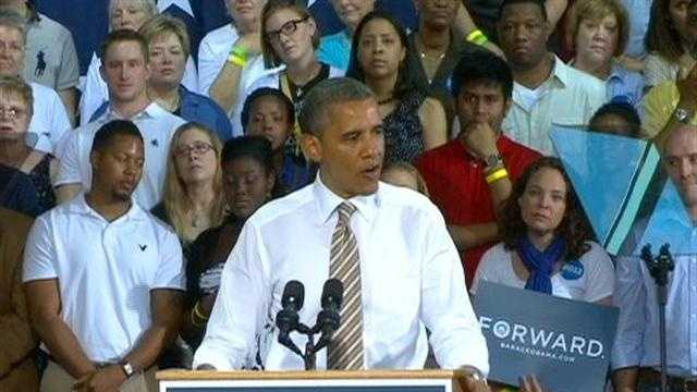 Obama delivers two speeches in Iowa