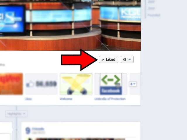 First thing you want to do is find the Like button on a page you are a fan of.