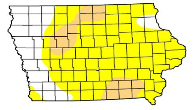 Drought map june 14