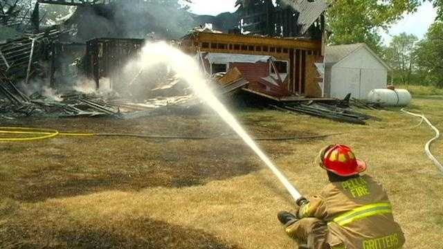 A family of seven was homeless after their home burned to the ground Sunday afternoon.