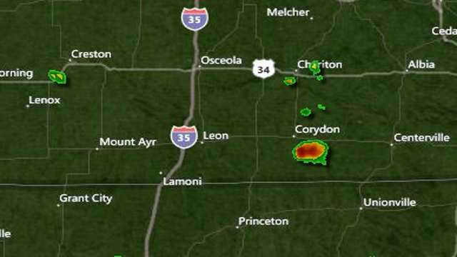 Showers in Chariton 3:40 p.m.