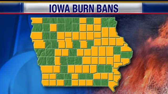 Burn bans by county as of July 27, 2012.