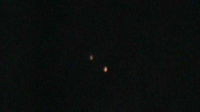 Couple claims video shows UFOs