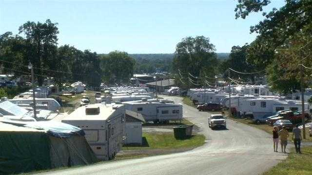 The start of the Iowa State Fair is days aways, but campers are already in place.