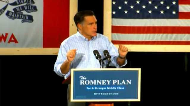 Romney speech des moines