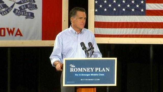Romney talks 5 step plan in Iowa speech