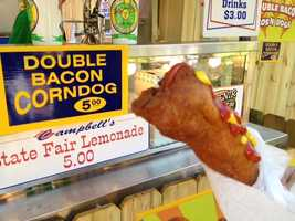 Double. Bacon. Corndog.