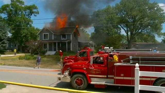 A firefighter was hurt Thursday afternoon fighting a house fire in Jewell.