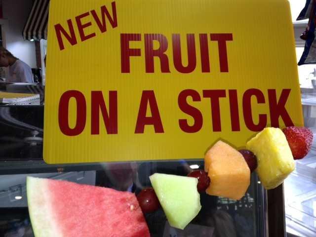 Cynthia found something very rare at the fair. Health food!