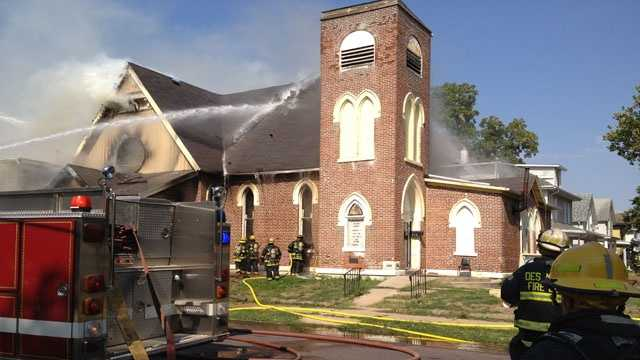 Fire des moines church