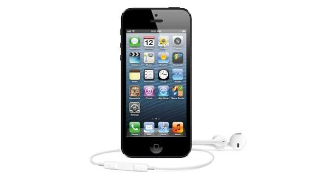 iPhone 5 with headphones
