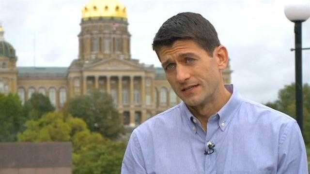 Vice presidential candidate Paul Ryan talks about why Iowa is so important in the race for President