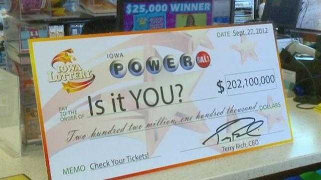 Iowa Lottery officials confirm a ticket sold in Bondurant has matched all six numbers in Wednesday night's Powerball drawing.