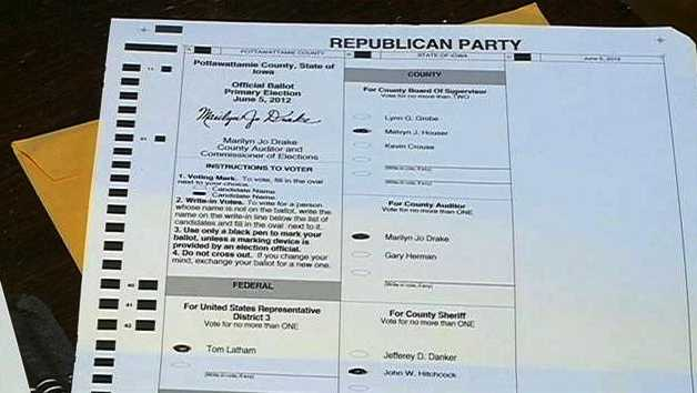 Completed Ballot