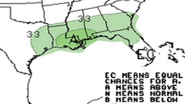 Above normal precip only expected on the gulf coast this winter.