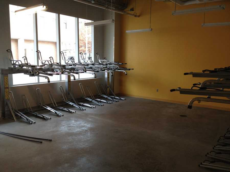 Bicycle storage room. $50 per year to store your bike in a secured part of the building.