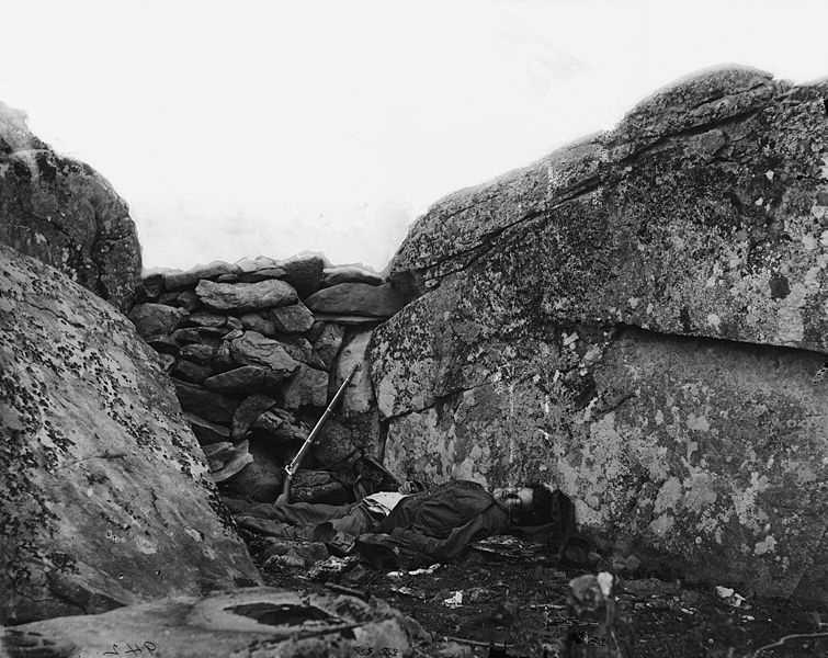 3. Gettysburg, Pennsylvania: The Devil's Den is a rocky outcropping of boulders and shrubs that was the site of one of the clashes of the second day of the battle. The spot is famous for being the location of a Confederate sharpshooter who was killed while taking from behind the rocks. Union forces later found a body, and photographer Alexander Gardner took a photo of it that has since become one of the most iconic images of the battle. According to Topternz.net, this man's ghost now haunts the Devil's Den, and to this day visitors to the park often have a great deal of trouble trying to take photos anywhere near the site. Pictures often come out blurry and unusable, and cameras have a strange way of suddenly dying whenever they are turned on in the area.