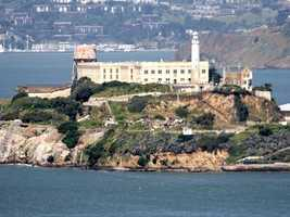 10. San Francisco, California: One of San Francisco's most famous landmarks, Alcatraz Island is also home to some of the city's weirdest ghost stories. Toptenz.net said Visitors to the island often claim to see apparitions walking the cellblocks, and sometimes hear voices emanating from what was once the cafeteria.