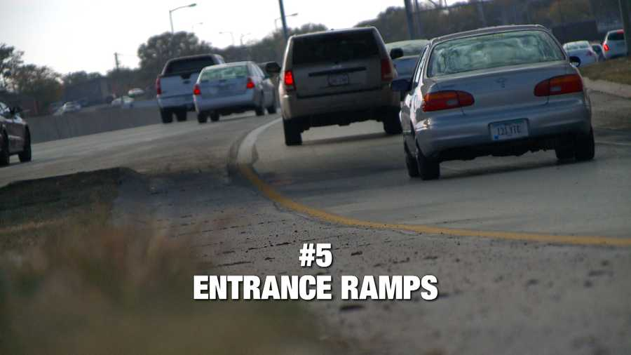 """Entrance ramp confusion is our 5th bad driving habit. This pet peeve is a double whammy. Drivers are often upset when it takes cars too long to get up to speed on an entrance ramp and there's always a question about merging at the end of the entrance ramp. The experts say you should be traveling at freeway or interstate speed by the time you merge. But remember... """"You have to understand, when you are merging onto the interstate, you do not have the right of way. That vehicle on the interstate has the right of way,"""" said Sgt. Scott Bright with the Iowa State Patrol."""