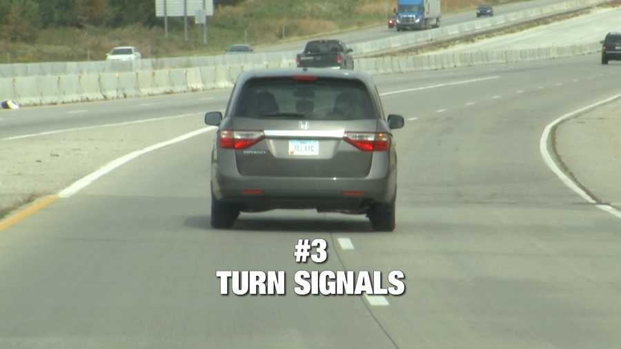 Iowan's have a reputation for not using their turn signals, which makes the number 3 spot on our list. Here's the law: Signal at least 100 feet before a turn if the speed limit is 45 mph or less. If the speed limit is faster than 45 mph,signal at least 300 feet before you turn.