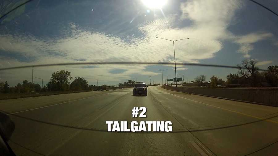 Tailgaiting is our number 2 bad driving habit. The Iowa DOT suggests staying back one car length for every 10 mph of speed you are traveling. Going 60 on the freeway? Stay back about 90 feet from the car in front.