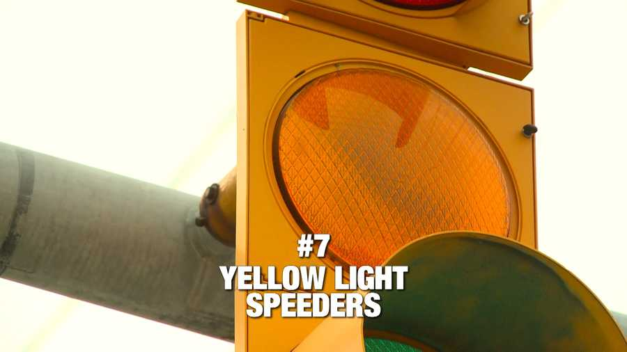 KCCI viewers don't like seeing people speed up to make it through a yellow light. The complaint comes in at number 7 on the list. Another complaint about the use of intersections is next.