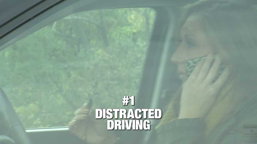 """Distracted driving is easily number 1 on our list. KCCi viewers say they can't believe some of the things drivers do in the front seat instead of concentrating on the road. Sure enough, we found driver after driver on the phone. Cell phones are part of our lives, and that includes talking in the car. We caught a woman with a phone in one hand, and a power cord in the other. How is she even steering? A close second to phones is eating in the car. Texting is also a big problem,but the Iowa State Patrolsays that lawis almost impossible to enforce. """"We try to tell people, is it worth your life to look at that email? That email will be there when you get to the office. So the best thing to do is put the phone down, keep your focus on driving and that's the number one task at hand,"""" said Sgt. Scott Bright."""