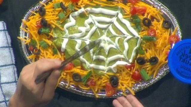 Fareway dietitian Whitney Packebush shares a healthy way to spice up layered salad just in time for Halloween.