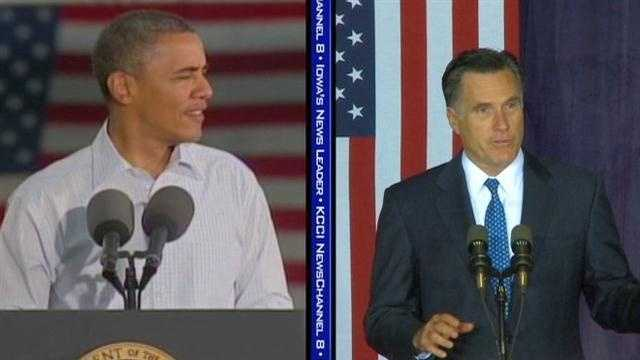 Both Mitt Romney and Barack Obama are planning campaign events in Iowa this weekend.