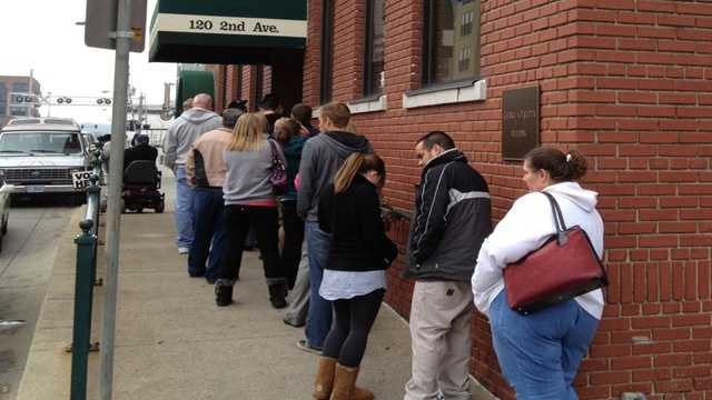 Early voting line Polk Co