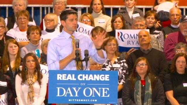 Paul Ryan visits Des Moines for 'Victory in Iowa' rally