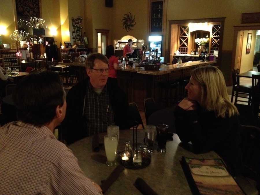 Some KCCI staffers enjoy their Election Night assignment.